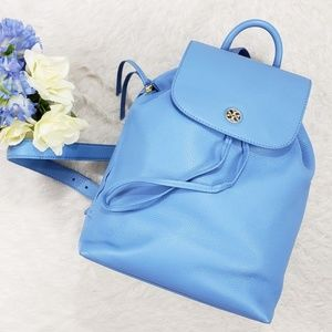 Tory Burch Brody Backpack Leather Montego Blue